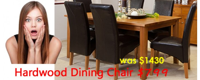 HARDWOOD DINING SUITE