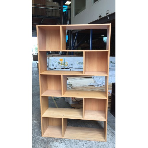 MDF-5SHELF 1100W  TASSIE OAK BOOKCASE | Wood World Furniture