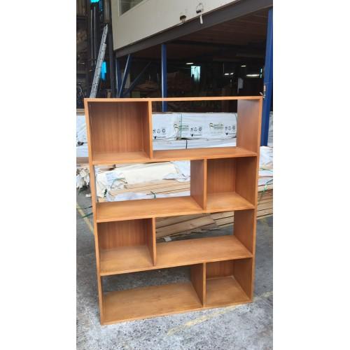MDF-4SHELF 1100W  TASSIE OAK BOOKCASE | Wood World Furniture
