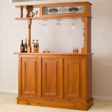 MBR-3MR SOLID WOOD HOME BAR FURNITURE