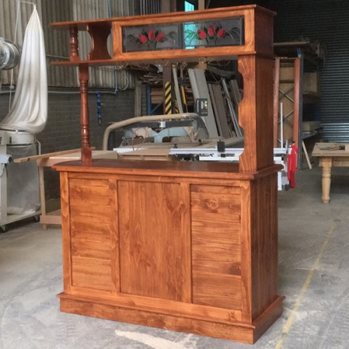 MBR-3MR SOLID WOOD HOME BAR FURNITURE | Wood World Furniture