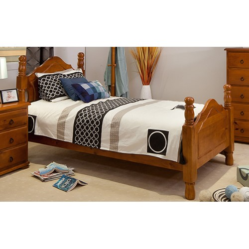 SAMPSON KING SINGLE BED | Wood World Furniture