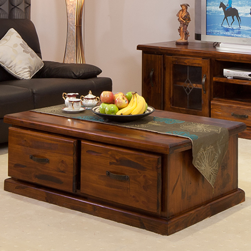 RUSTIC COFFEE TABLE  | Wood World Furniture