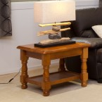 MCOT-2C LAMP TABLE WITH SHELF