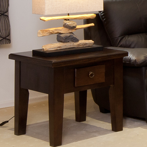 LOCAL MADE TASSIE OAK DINH LAMP TABLE | Wood World Furniture