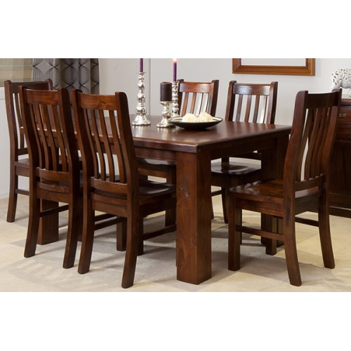 RUSTIC 1500W 7PCE DINING SUITE [DISCONTINUED] | Wood World Furniture