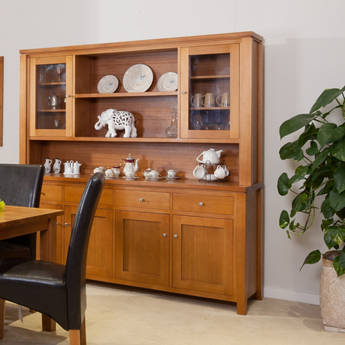 Premium Quality Tassie Oak Fairholm Buffet And Hutch Wooden Furniture Sydney Timber Tables