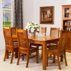 2100L 9PCE STRAIGHT LEGS DINING TABLE SUITE