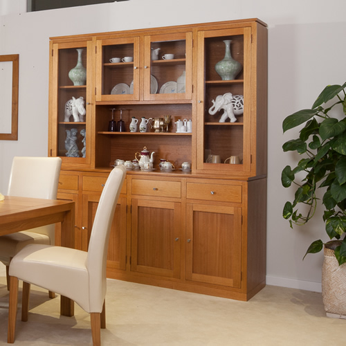 TASSIE OAK JOE BUFFET AND HUTCH | Wood World Furniture
