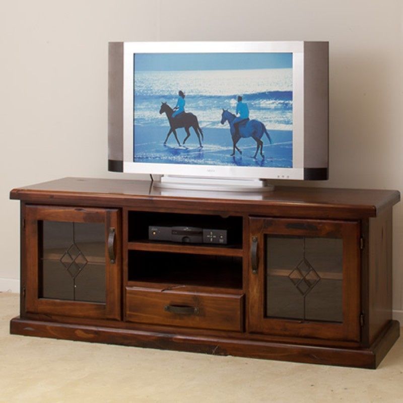 RUSTIC 1650W TV UNIT [IMPORT] | Wood World Furniture