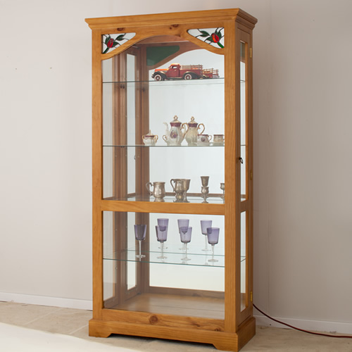 MCDC-003 LOCAL MADE PINE DISPLAY UNIT  | Wood World Furniture