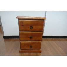CL 3 DRAWER BEDSIDE