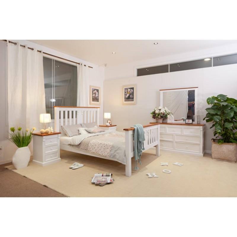 JANE DM 4PCE KING BEDROOM SUITE Wooden Furniture Sydney
