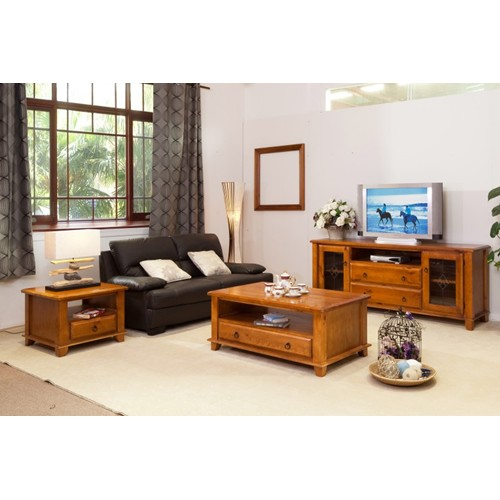 HB TV UNIT & COFFEE TABLE & LAMP TABLE PACKAGE | Wood World Furniture