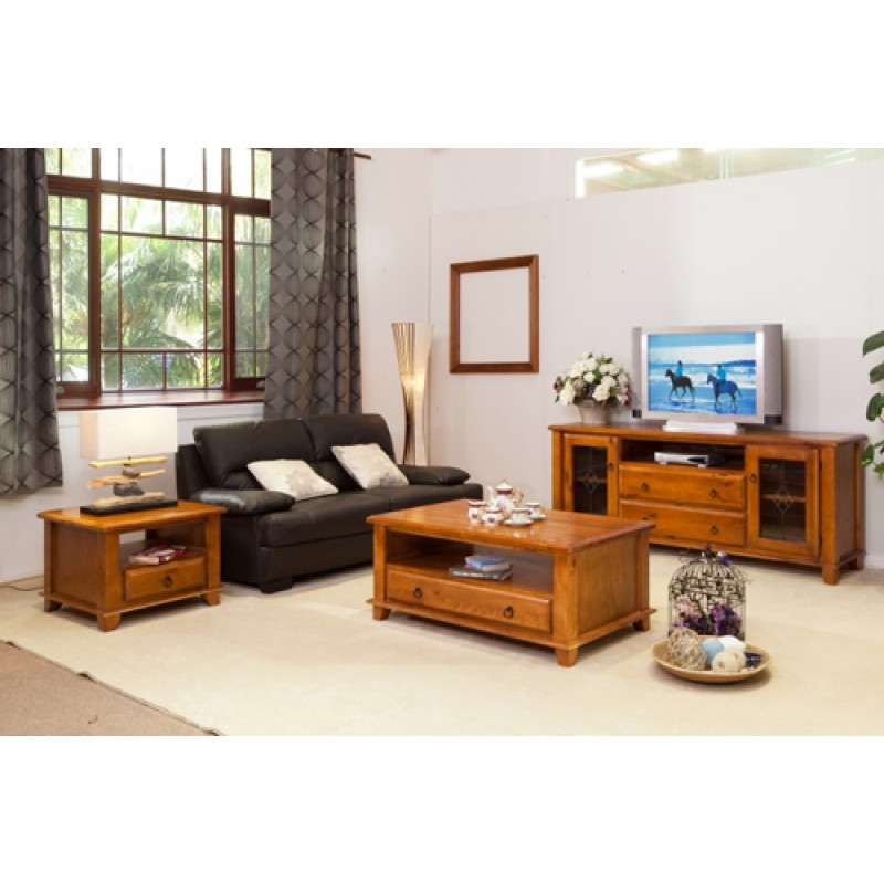 HB TV UNIT  COFFEE TABLE  LAMP TABLE PACKAGE Wooden Furniture