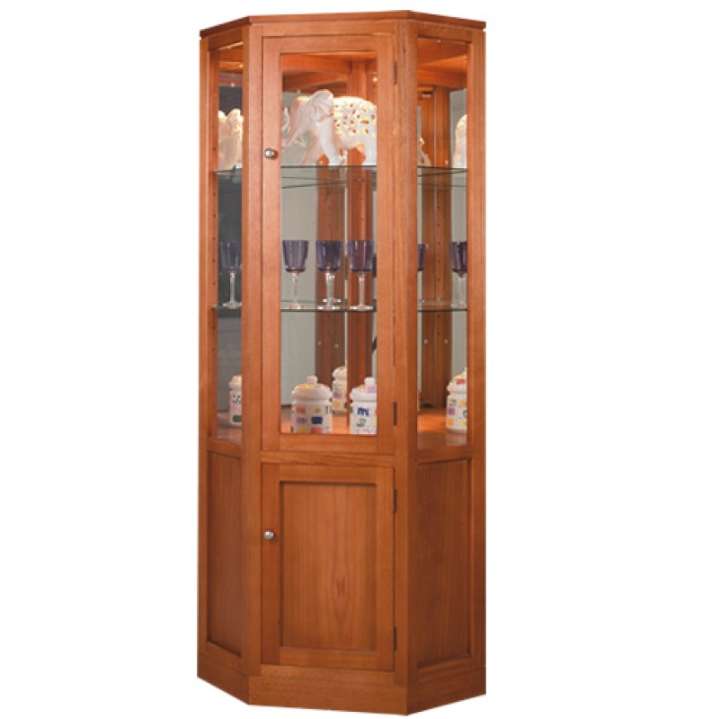 TASSIE OAK CORNER DISPLAY UNIT / CORNER DISPLAY CABINET | Wood World  Furniture