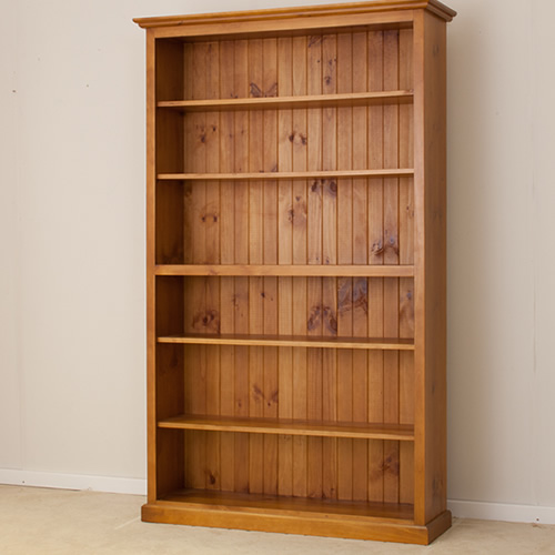 LOCAL MADE PINE BOOKCASE CL 7 x 4 | Wood World Furniture