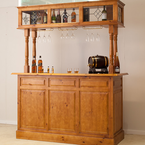 Discontinued 4 POST HOME BAR [DISCONTINUED] | Wood World Furniture