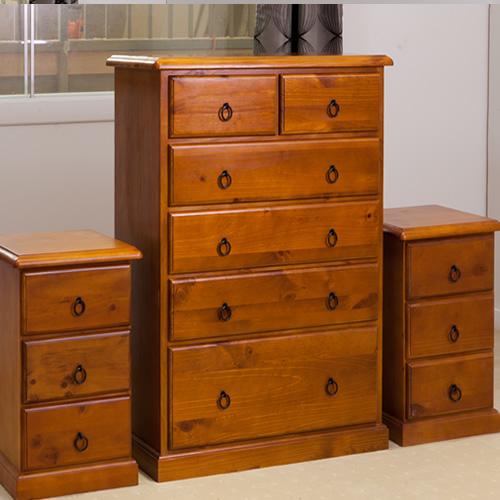 CRYSTAL SET OF TALLBOY BEDSIDES   Wood World Furniture