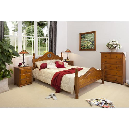 ROSE PROVINCIAL 4PCE QUEEN BEDROOM SUITE | Wood World Furniture