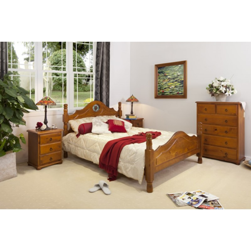 ROSE PROVINCIAL 4PCE KING BEDROOM SUITE Wooden Furniture Sydney Timber Tabl