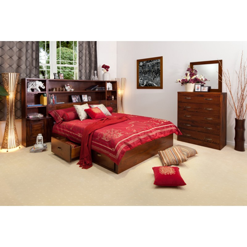 LIBRARY 5PCE LUXURIOUS QUEEN BEDROOM SUITE | Wood World Furniture