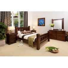 RUSTIC-DRESSER DOUBLE BEDROOM SUITE
