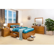 CLAREMONT TASSIE OAK LUXURY QUEEN BEDROOM SUITE