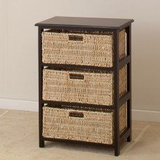 BLACK OR WHITE BASKET  3 DRAWERS