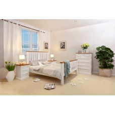JANE-T 4PCE DOUBLE BEDROOM SUITE White Furniture