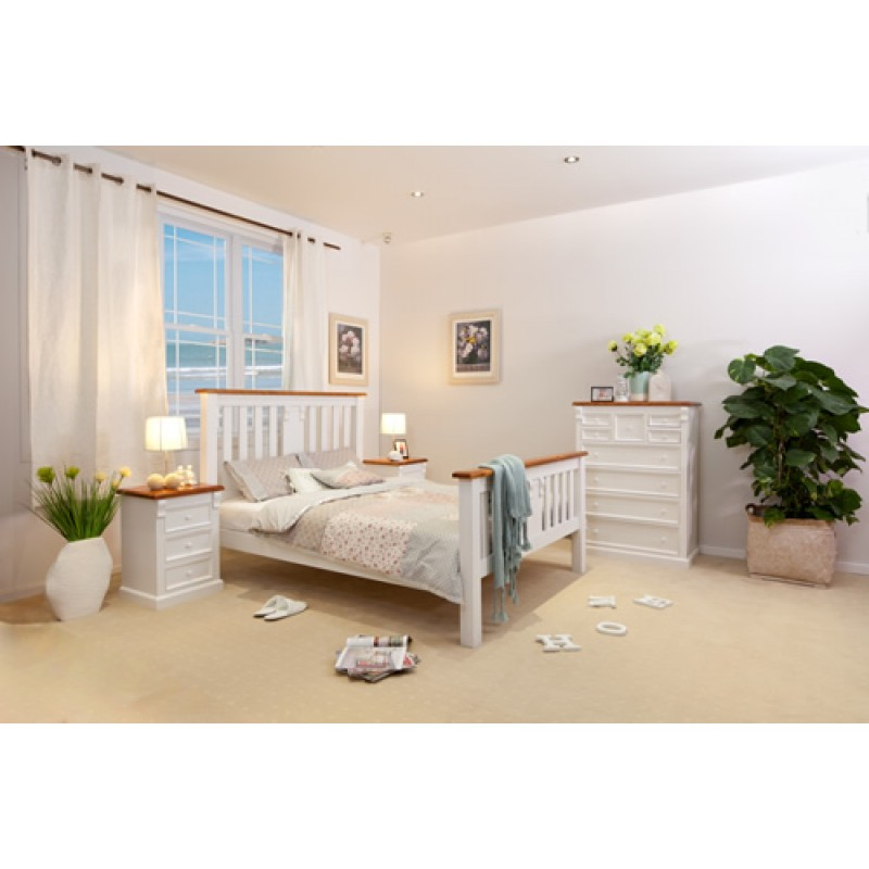 JANET 4PCE QUEEN BEDROOM SUITE White Furniture Wooden Furniture