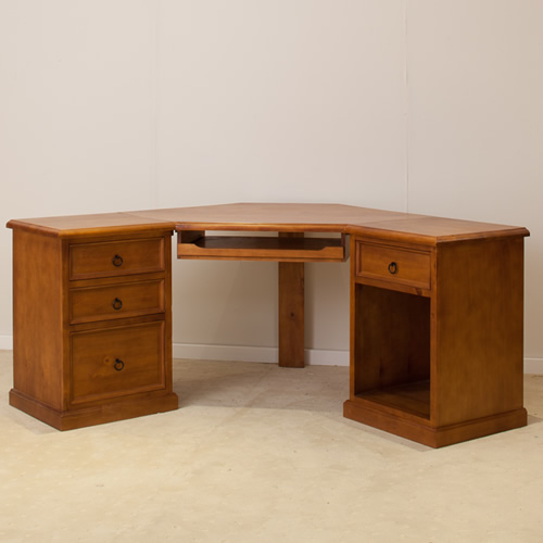 CORNER 3PCE COMPUTER DESK [DISCONTINUED] | Wood World Furniture