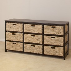 BLACK 9 DRAWERS BASKET