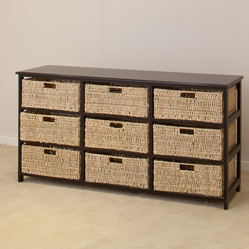 BLACK 9 DRAWERS BASKET (Discontinued) | Wood World Furniture