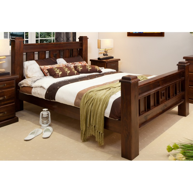 Attractive RUSTIC KING SIZE BED | Wood World Furniture