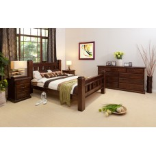 RUSTIC-T9 KING SIZE BEDROOM SUITE (DISCOUNTINUED)