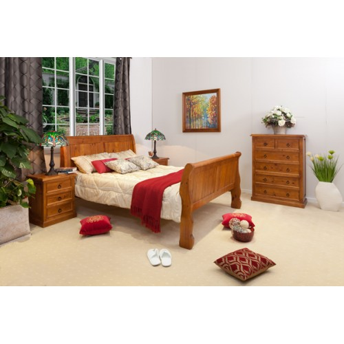 SLEIGH 4PCE QUEEN  BEDROOM SUITE [DISCONTINUED] | Wood World Furniture