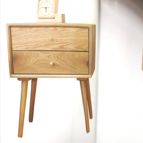 AMERICAN OAK HARDWOOD ASTRID BEDSIDE TABLE  | Wood World Furniture