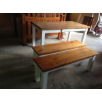 [CUSTOM MADE EXAMPLE] Local make pine dining suite with 2 bench chairs