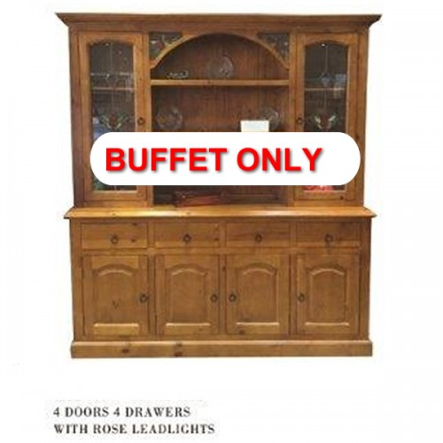 WBH 6/8 BUFFET ONLY | Wood World Furniture