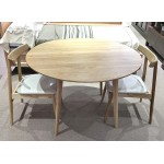 AMERICAN OAK ARVID 1150 ROUND TABLE SET