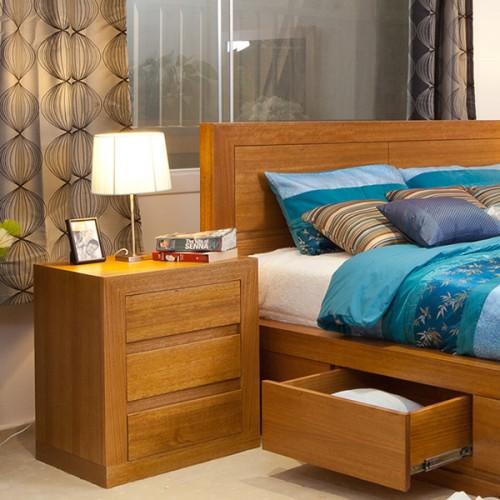 CLAREMONT TASSIE OAK BEDSIDE | Wood World Furniture