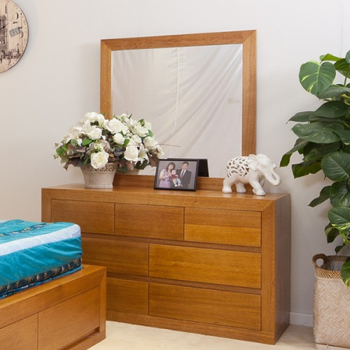 CLAREMONT TASSIE OAK DRESSER with MIRROR | Wood World Furniture