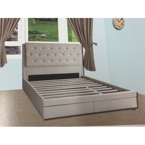 FABRIC QUEEN SIZE BEDFRAME (LIMITED STOCK) | Wood World Furniture