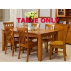 FAIRHOLM HIGH QUALITY TASSIE OAK DINING TABLE ONLY