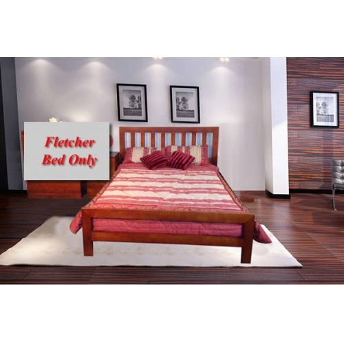 FLETCHER DOUBLE BED | Wood World Furniture