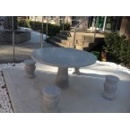 GRANITE STONE 5 PIECE OUTDOOR SETTING