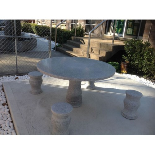 GRANITE STONE 5 PIECE OUTDOOR SETTING | Wood World Furniture