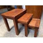 MOUNTAIN ASH LUXURY HIGH END QUALITY 3 PCE NEST TABLE