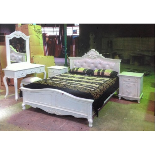 OFFWHITE CLASSIC  QUEEN BEDROOM SUITE (OUT OF STOCK) | Wood World Furniture